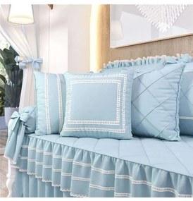 Almofadas Azul Clássico Decorativas 3 Peças Grão d