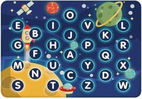 Tapete Love Decor de Atividades Infantil Letras no Espaço Azul
