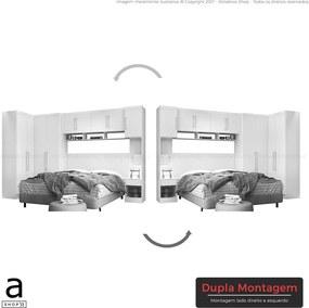Conjunto de Quarto Casal Modulado Olenpu C/ 9 Portas Branco