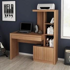 Mesa escrivaninha Estante Home Office 2 portas 1 Gaveta AM