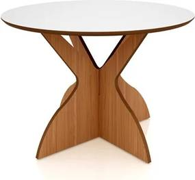 Mesa para Sala de Jantar TM12 120cm Freijó/Off White - Dalla Costa