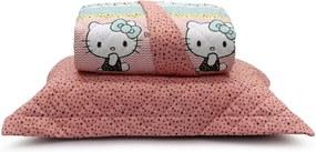 Kit Colcha Matelassê Hello Kitty