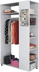 Módulo Closet Com Prateleiras e Espelho Moove 5000 Branco - Appunto