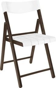 Cadeira Potenza de Madeira Tauarí Tabaco/Branco - Tramontina