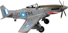 Réplica de Avião Guerra Cinza Grande de Metal