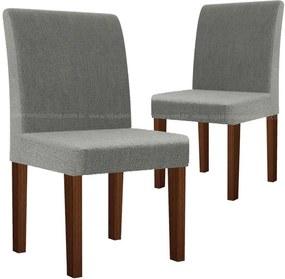 Cadeira Para Sala De Jantar Zafira Rv Móveis (2 Unidades) - Castanho/cinza