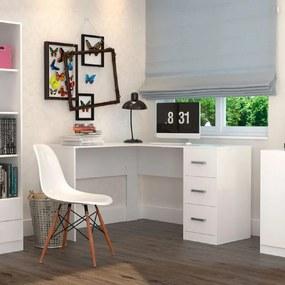 Mesa Escrivaninha em L 502 Branco - Appunto