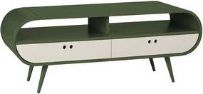 Rack para TV 2 Gavetas Dream 620 Verde Musgo/Branco - Maxima
