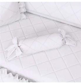 Almofada Apoio Bala Branco Clássico 60cm Grão de G