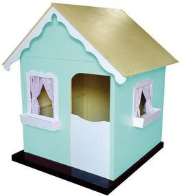 Casinha de Brinquedo Infantil Verde Água/Branco - Criança Feliz