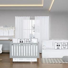 Quarto de Bebê Blanc Preto 26 Peças