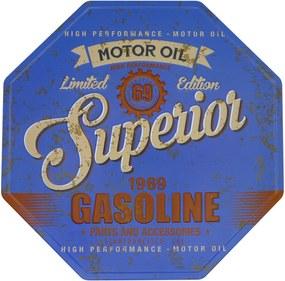 Placa Kasa Ideia de Metal Motor Oil 30cm