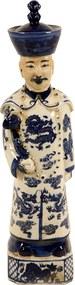 Escultura Decorativa Imperador de Porcelana Ming