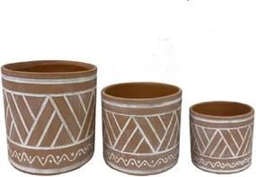 Trio de Cachepots Natural