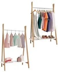 Kit 2 Módulos Closet Arara Expositor 1 Prateleira Style D08 Branco/Ama