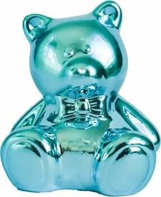 Cofre cerÂmica metalizado - urso azul