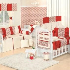 Quarto Para Bebê Sem Cama Babá Padroeira Baby Glamour Luxo - Vermelho