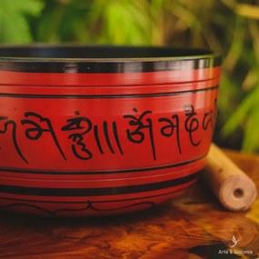 Tigela Tibetana Indiana Vermelha
