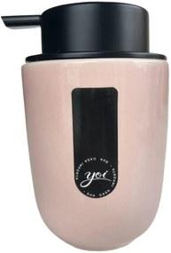 Porta Sabonete Líquido em Cerâmica Osaka Rosa 200 ml – YOI