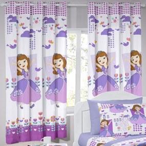 Cortina Curta Infantil Disney Sofia Friends