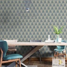 Adesivo Ambiente Decorado Cubis Blue