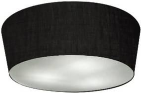 Plafon Cone Md-3004 Cúpula em Tecido 15/50x40cm Preto - Bivolt