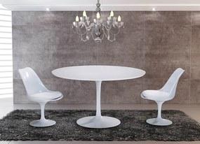 Mesa de Jantar Saarinen Redonda - Tampo MDF Laca - PROMOCIONAL
