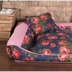 Cama Pet Pequena Deccoralle - Floral Azul