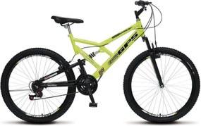 Bicicleta Colli Bikes Aro 26 Full-s GPS Amarelo Neon