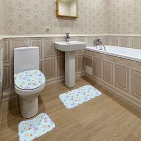 Jogo de Banheiro Flores AzulÚnico