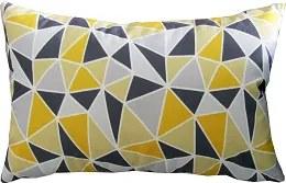 Capa almofada LYON Veludo estampado Triângulos grandes Amarelo 30x50cm