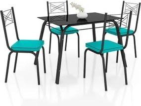 Conjunto de Mesa Lotus 107 cm com 4 cadeiras 119 Artefamol