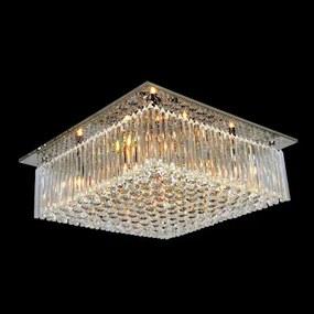 Plafon Sobrepor Metal Cristal Cromado