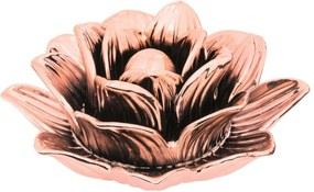 Flor em Cerâmica Rose Gold Mart