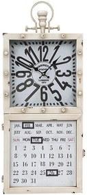 Relógio Branco com Calendário e Porta Chaves