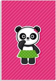 Placa de Bancada Decorativa Panda Fêmea 30x20cm