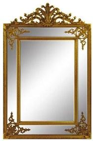 Espelho Decorativo Clássico com Moldura Folheada a Ouro - 150x97cm