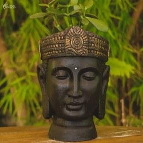 Vaso Cabeça de Buda Preto