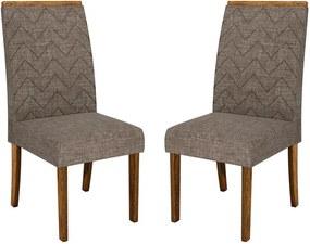 Kit 2 Cadeiras Vorgan Estofada Linho Bronze / Demolição