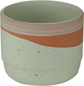 Cachepot Cerâmica Rose Stripe Branco 12X12X9,5Cm