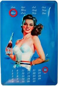 Placa De Metal Calendario Universal Pepsi