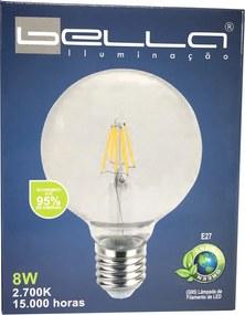 Lâmpada de Led Filamento Ballon 8W 2700K G95 E27 - LEDPRO - Bivolt