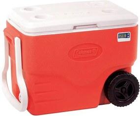 Caixa Térmica com Termômetro 38 Litros Com Rodas Vermelha - Coleman