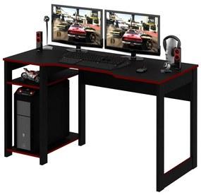Mesa Gamer Reversível ME4152 Preto/Vermelho - Tecno Mobili
