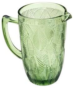 Jarra De Vidro Leaves Verde 1,3 Litros 35637 Bon Gourmet