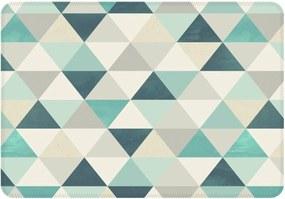 Tapete Love Decor de Sala Wevans Multi Triângulos Turquesa