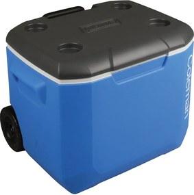 Caixa Térmica com Roda 60 QT Azul/Branco/Cinza 56,7 Litros - Coleman
