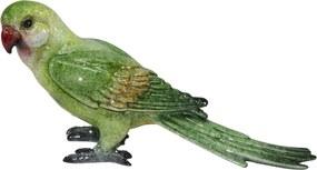 escultura pássaro ANTILHA cerâmica verde  20 cm Ilunato KY0012