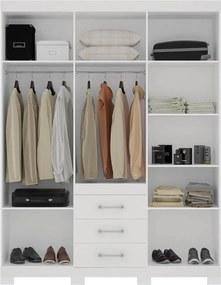 Guarda-roupa Teno C/ 6 Portas e Pés Branco