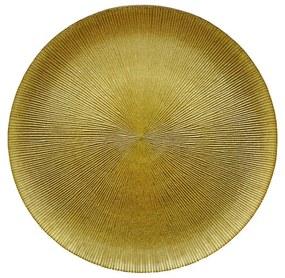 Sousplat Cristal Dots Dourado 33cm 27764 Wolff